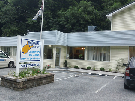 McDowell County Commission on Aging building.