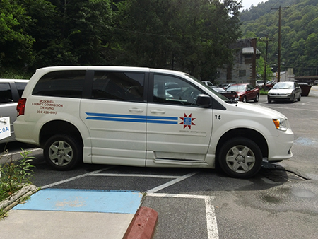 McDowell County Commission on Aging van.